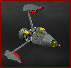 Triumphant Class Heavy Fighter (Karf Oohlu) Tags: lego moc microscale microspacetopia scifi spaceship fighter