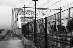 Diemen (Sean Anderson Classic Photography) Tags: sonya700 dslr meyeroptik lydith 30mmf35 m42 bridge railway diemen fietspad cyclepath