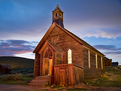 Church at Night in Bodie (cheryl strahl) Tags: california bodiestatepark bodie nightphotography methodistchurch lightpainting longexposure sunset light historic ngc