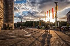 Long shadows @ Riga (PaulHoo) Tags: riga latvia fujifilm fuji x70 2017 city citylife candid streetcandid streetphotography sun shadow light curves pattern cloud evening illuminated urban nik