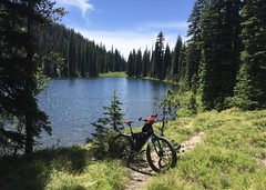 Lochsa / Selway River Trip (Doug Goodenough) Tags: bicycle bike cycle pedals spokes surly pugsley krampug rpod trailer camping campground 29 hiking trails hike lochsa selway river clearwater idaho forest summer july hot heat sun 2017 packraft float water rapids mountains lookout drg53117 drg53117p drg53117clearwater drg531