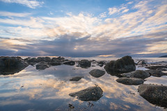 Mirrored Sunset (Fab Boone Photo) Tags: sea seascapes sunset sun norway reflection mirror fabienboone fabboone