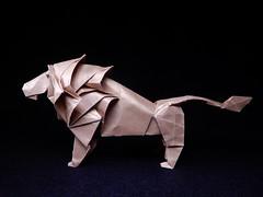 Lion (ayako kobayashi) Tags: lion origami hideokomatsu
