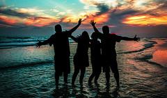 Siesta Key Silhouette (Razzo1988) Tags: siestakey florida sunset gulfofmexico ocean sea