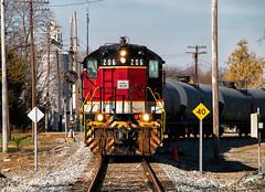Cottage Grove Cadi (Wheelnrail) Tags: emd sd9 cadillac locomotive indiana eastern ierr railroad rail road train trains chemical tankers co bo high hood shortline aww freight ohio cottage grove