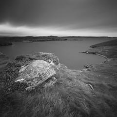 Loch Charlabhaigh (Mark Rowell) Tags: laimisiadair lochcharlabhaigh isleoflewis hebrides scotland highlandclearances hasselblad 903 swc 6x6 120 mediumformat bw blackandwhite fuji acros film