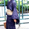 小千谷縮に対馬麻の帯 (qazunori) Tags: 薔薇 対馬麻 小千谷縮 tsushima ojiyachijimi rose hemp setagaya tokyo obi kimono