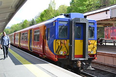 South West Trains 455857 (Will Swain) Tags: 22nd april 2017 greater london capital city south east train trains rail railway railways transport travel uk britain vehicle vehicles country england english swt stagecoach putney west 455857 class 455