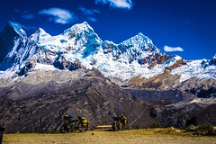 A beautiful look at where our trusty bikes have taken us; Peru's highest mountain Huascarán mountain at 6768 meters.