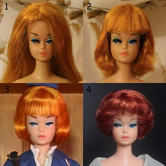 The Life of a Colour 'n Curl Wig (DeanReen) Tags: vintage barbie fashion queen doll low high colour magic curl wig topaz brunette long hair american girl bubble cut bangs fring changed color mint rare