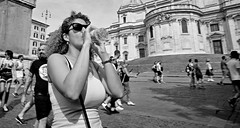 Keep hydrated. (Baz 120) Tags: candid candidstreet candidportrait city candidface candidphotography contrast street streetphoto streetcandid streetphotography streetphotograph streetportrait rome roma romepeople romestreets romecandid romepride europe women monochrome monotone mono blackandwhite bw noiretblanc urban voightlander12mmasph voightlander leicam8 leica life primelens portrait people unposed italy italia girl grittystreetphotography flashstreetphotography flash faces decisivemoment strangers