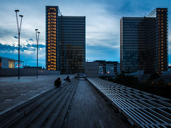 Twilight at BNF (LeulierPhotos) Tags: twilight france library paris bnf