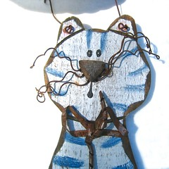 wire-y whiskers (muffett68 ☺☺) Tags: picmonkey hss cat wooden whiskers