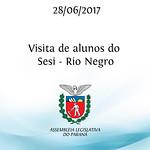 Visita de alunos do Sesi - Rio Negro 28/06/2017