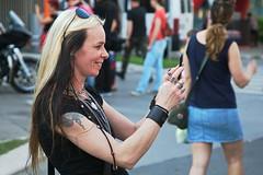 True HARLEY (salaminijo) Tags: people harley davidson shooting outdoor lights sunnyday belgrade beograd ser srbija bike bikers girls profile capture amateur style view pogled canon eos street balkan europe evropa