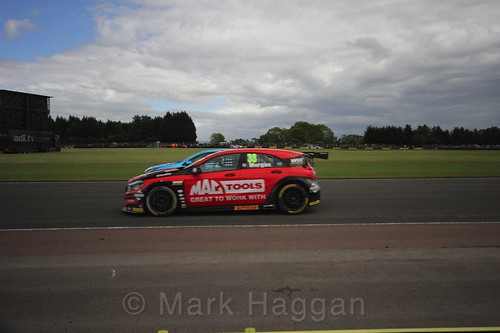 Adam Morgan in BTCC action at Croft, June 2017