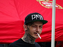 The Smoker (knightbefore_99) Tags: italian day car free smoker portrait pma cigarette thedrive commercialdrive eastvan vancouver tattoo cap street candid cool awesome scary dude