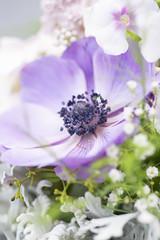 Summer Anemone Posy (photoart33) Tags: flowers summer stilllife anemone purple