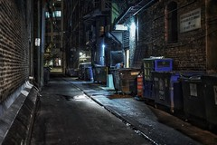 Finish the work (karinavera) Tags: travel sonya7r2 chicago view building architecture city 50mm night street alley people