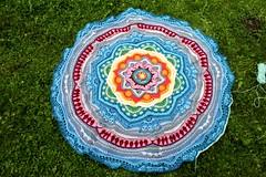 2017.06.20. mandala madness part 14 3128m (villanne123) Tags: 2017 mandala mandalamadness crochet crochetmandala villanne virkattua virkattu virkattumandala schachenmayrwool125 part14done
