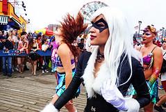 Protect All Mermaids (kirstiecat (on vacation...)) Tags: mermaid nyc newyorkcity mermaidparade float people happy fun usa america canon street brooklyn coneyisland