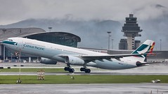 Cathay Pacific A330-300 B-HLM departing HKG/VHHH (Jaws300) Tags: rotate departing international cheklapkok hongkong airport airlines airways pacific cathay cathaypacific cathaypacificairways storm stormy clouds cloud rainy rain wet runway takeoff a330300 a330 a333 cx cpa clk hkia hkg vhhh bhlm