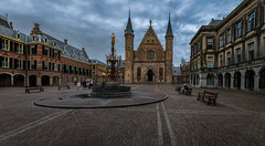 Ridderzaal, The Hague (ben_leash) Tags: blue netherlands thehague denhaag ridderzaal binnenhof nederland dutch holland southholland zuidholland dramatic sky cloudy dark moody perspective leadinglines castle towers gothic