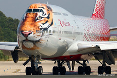 EI-XLD Rossiya - Russian Airlines Boeing 747-446 (Planes , ships and trains!) Tags: eixld rossiya russianairlines boeing b747446 avgeek aviation bluesky sunny airplane aircraft airliners airlinersbe civilairplane civil barcelona elprat bcn lebl 2017 tiger