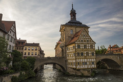 Bamberg Old town hall (Augustas Kemežys) Tags: bamberg bayern germany de old town hall river bridge altes rathaus