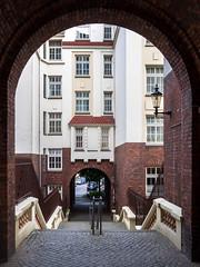 P5310316 (mkreibohm) Tags: hamburg germany urban street bricks texture arch buidling doorway stairs