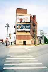A009051-R1-32-5-2 (elsuperbob) Tags: detroit michigan easternmarket billboards religiousamericana newtopographics kodak portra400 kodakportra400 olympusxa