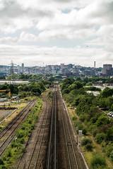 Trainline view to Bristol (clogette) Tags: unitedkingdom trainline england igerslovegloucesterroad bristol city cityscape tracks railway uk citylife gb