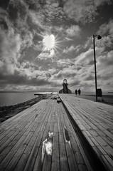 At the beach after the rain (Kimmo Räisänen) Tags: nikond5100 tokina1224mm sea seascape bw blackandwhite noir clouds dramaticsky oulu finland