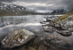 Geiranger Snow mountain in Norway (davidshred) Tags: geiranger norway landscape cloudy