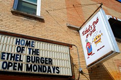 Ethel's Pub & Grill, Chilton Wisconsin (Cragin Spring) Tags: midwest unitedstates usa unitedstatesofamerica building ethelspubgrill restaurant bar sign burgers chilton chiltonwi chiltonwisconsin ketchup hamburger wisconsin wi