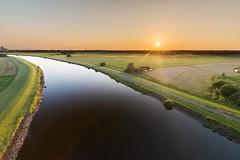 Hunteblick auf Oldenburg (N.Sample) Tags: oldenburg huntebrücke bridge water lake sunset sigma 1020 nikon d7100 panorama hdr
