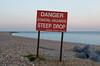 Helvetica danger (Bahi P) Tags: sandgate folkestone danger sign kent beach helvetica u