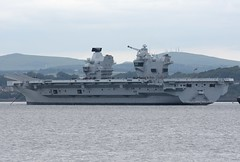 HMS Queen Elizabeth (Gerry Hill) Tags: forth road bridge south queensferry harbour river water firth replacement crossing scotland north hms aircraft carrier queen elizabeth r08 at anchor hopetoun house rosyth imo 4907892