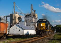 EMD's in Prospect, Ohio (Brandon Townley) Tags: trains railroad sd402 prospect ohio csx chessie annarbor co