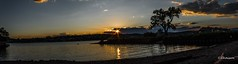 The setting sun over the Hudson River (YBFSC Shirley) Tags: hudson riverlong dock