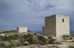 St. Mary Magdalene Chapel and watchtower at Dingli cliffs (RedPlanetClaire) Tags: malta maltese mediterranean sea island europe european dingli cliffs west st mary magdalene chapel church tower watchtower