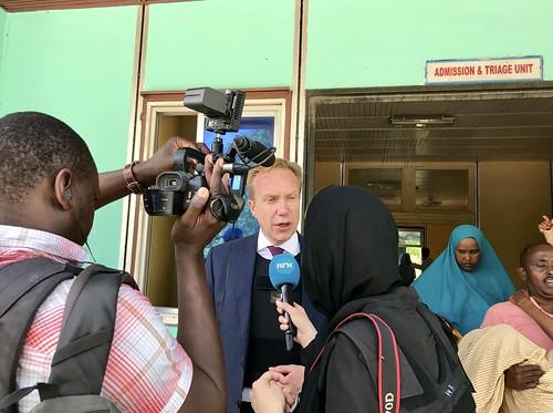 Utenriksminister Børge Brende i Somalia