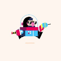 Day 188: Space Dude (ChrisKoelsch) Tags: space animation pixel bit videogame game sprite 8bit 16bit run cycle scifi aftereffects illustrator illustration graphic design