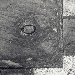 _1090503 / paving stone lift ring (doug_r) Tags: stpaulscathedral londonengland panasonicgf1 panasonic20mmf17 bw blackandwhite blancoynegre blancetnoir postprocessinginlightroom palimpsest 1090503 processingversion1