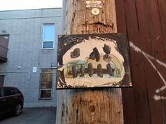 Claude Monet (navejo) Tags: montreal quebec canada parkex monet art alley skull mask