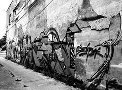 Infrared alley (jose.armenteros) Tags: blackandwhite streetphotography 120film mediumformat infraredfilm