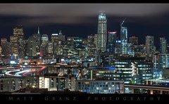 The New Ever Changing SF Skyline (Matt Grans Photography) Tags: sanfrancisco skyline night freeways lighttrails fog skyscrapers architecture cityscape california