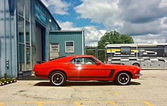 1969 Ford Mustang (Cragin Spring) Tags: musclecar car vehicle mustang fordmustang illinois midwest mchenrycounty 1969 clouds red ford unitedstates usa unitedstatesofamerica