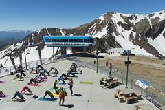 Yoga at 11000 feet