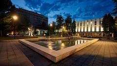 Old Government building (Ognjen Golubovic) Tags: banjaluka republika srpska bosnia bosna hercegovina night nocu